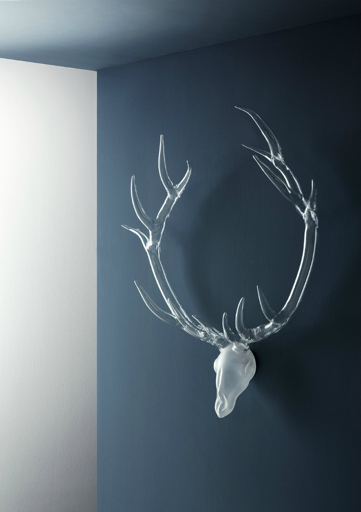 Glass artwork deer - Simone Crestani