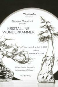 Kristalline Wunderkammer: my new solo exibition at Ingo Maurer showroom