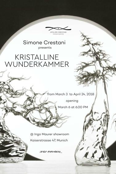 Simone Crestani Ingo Maurer Showroom Kristalline Wunderkammer anteprima