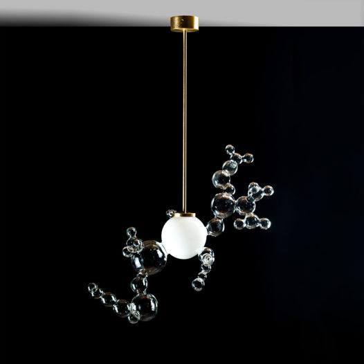 Bubble chandelier free form
