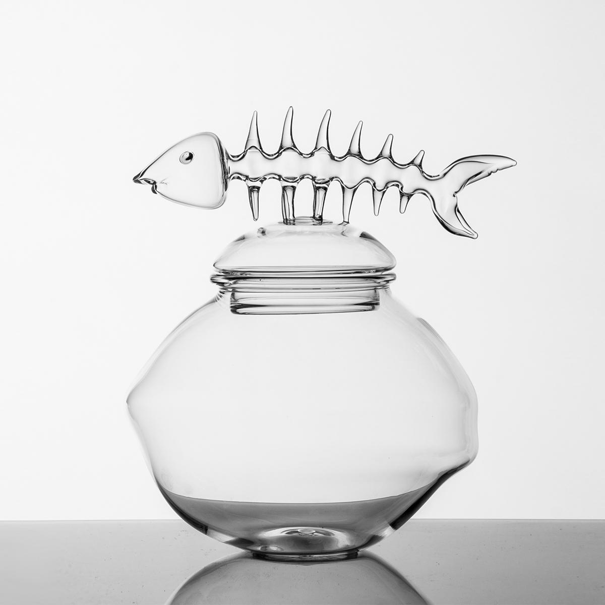Hand-blown Glass Jar